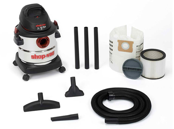 The Shop-Vac 5-Gallon 4.5 Peak HP Stainless Steel Wet Dry Vacuum